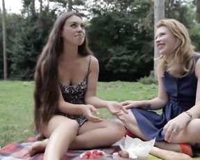 Picnic and gentle lesbian girlfriends sex
