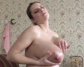 Pregnant Girl on the floor - Biig Boobs