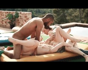 Swingers Sex near the Pool - Free Erotic Videos