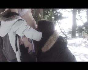 Snow Chase - Outdoors Winter Sex