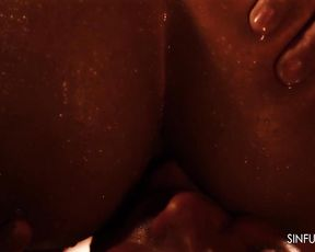 Oiled Couples Close Up 1