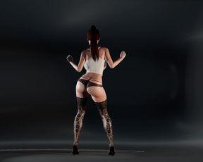 Dancing Girl  3D Animation - Nice Buttom