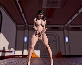 Dancing Futanari Girl  3D Animation - Big Dick