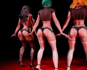 Dancing  3D Girls Animation - Beauty Ass