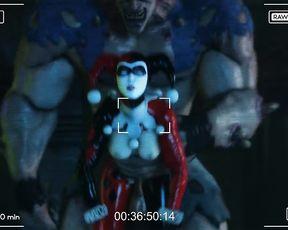 3D Harley Quinn porn - Monster Fuck Scene