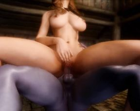 3D Futanari Cartoon Sex - Tavern Slut Quickie