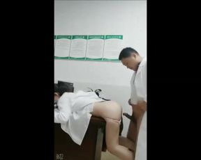 Softcore Doctor and Medical Intern having Hookup