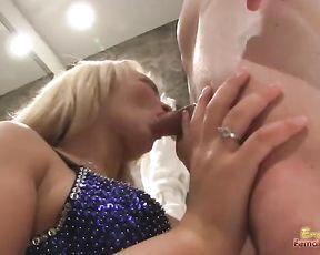 Cuckolding Husband has to Witness Housewife Deep-Throat a Boy