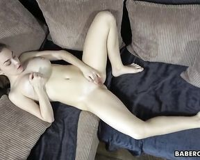 Solo nymph, Terry Bliss is masturbating at home, in 4K