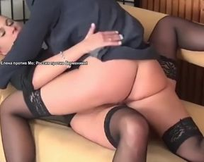 Elena Russian Lesby Art Schoolteacher in her 1st Sexfight