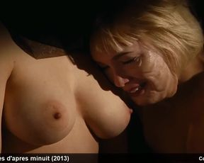 fabienne babe, julie bremond & kate moran stripped to the waist and softcore video episodes