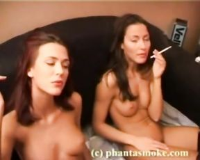 Smoking Scene with Steamy 2 Hookers