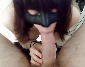 Masked Breezy Bj's my Man Sausage while I Work from Home Due to Corona Fright