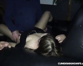 Slutwife gang-ravaged by many strangers at the Adult Theater