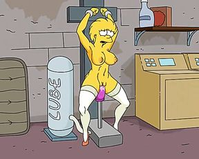 Simpsons Porn - Adult Lisa Simpsons Boned by Romp Machine and Infalted