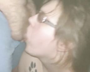 Young Chubby Cockslut Deep Deepthroating Cocks at Adult Theater Part 2