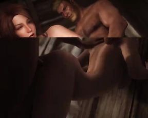 Dragonborn Meets Ysolda during an Adult Skyrim Playthrough.
