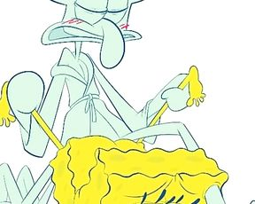 Spongebob Gets Ripped Up Rock-Rigid by Squidward Mpreg Story