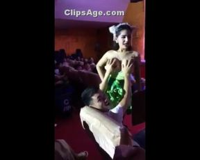 Thai Dame Adult Display Audience Taking Hold Of her Titties