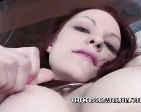 Ginger-Haired wifey Kajira is masturbating in a selfshot clip