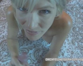 Light-Haired MILF Jolene takes some rock-hard-on and gets a inward orgasm