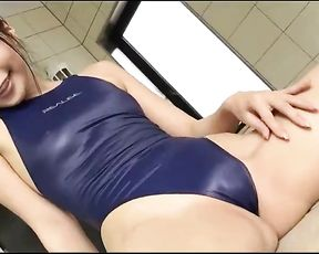 Chinese Peach Blue Thong Bathing Suit REALISE [ Softcore ]