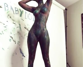 Marvelous Highschool Female Poses for you to Deep-Throat your Stream over her in Art Class