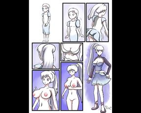 TG, Chick to Lady, Age Progression Transformation (Art by Thatfreakgivz)
