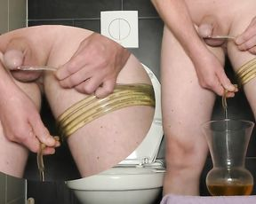 Piss Art Experiences I. Sounding urethral salami Pissing dominance & obedience super-naughty fetish guy