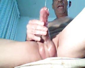 Herbert trying to reach orgasm in art porn