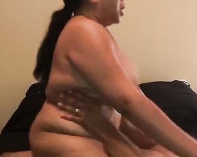 *BOUNCING TITS* boinking my roommate damsel-buddy while he\u2019s next door