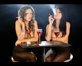 Erotic Underwear Models Smoking