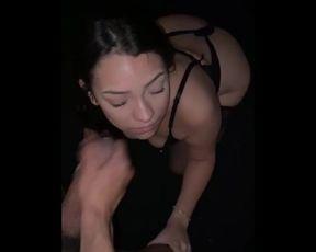 Facial Cumshot Jizz Shot on Sexy Humungous Butt Latina in Underwear