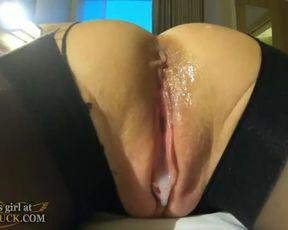 Inward Jizz Shot with Incredible Undergarments Janet