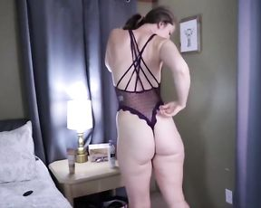 CURVES_4_DAZE observe through Underwear try on