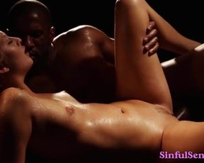 Scorching Blonde MILF has Supah-Warm Softcore Sex with well Hung Black Guy