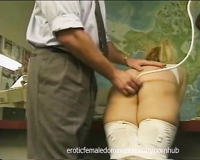 Secretary Urinates in the Office and Gets a Severe Punishment
