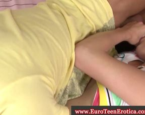 Young euro honey likes sixty nine