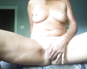 Spectacular Naked Unexperienced Light-Haired Mature MILF Wanking and Fingering Wet Wool Adorned Poon to Orgasm