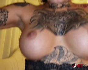 Genevieve Sinn smashed after getting a face tattoo