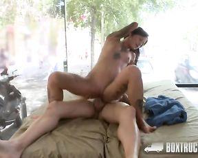 Super-Fucking-Hot Vendy Venus%27s Erotic Massage in Public