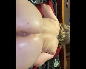 Father gives biotch first-ever time anal invasion cum-shot