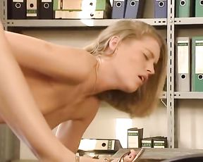 Anja in the office marvelous by pummeled