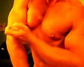 FBB Flexing her Super Hot Muscles Bare