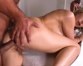 Teenager massage therapist Ria Sunn can't wait to gargle %26 ride client's spunk-pump
