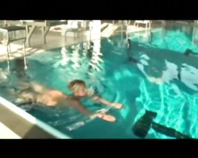 Inexperienced Housewife Bare in Public Pool