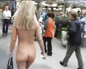 Steamy Platinum-Blonde Bare in Public Part3