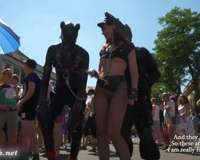 Fantastic Jeny Smith at Christopher Street Day parade at Cologne. With Public Nude scenes.