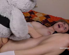 Perfect softsex nubile fuckin' her hairy man wolf and being very sated with it