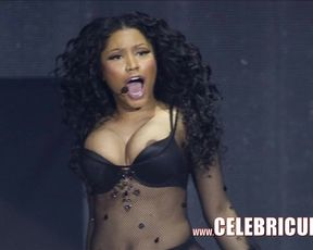 Celebrity Bare Leaks Nicki Minaj Knocker Cum Shot